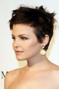 ginnifer goodwin2 199x300 Ginnifer Goodwins Brunette Hairstyle