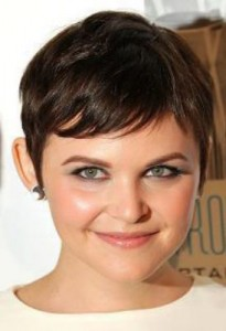 ginnifer goodwin3 205x300 Ginnifer Goodwins Brunette Hairstyle
