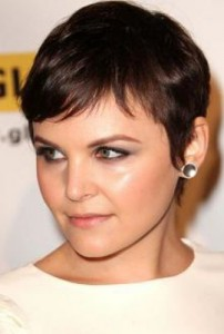 ginnifer goodwin4 202x300 Ginnifer Goodwins Brunette Hairstyle