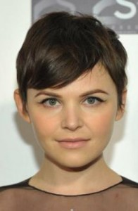 ginnifer goodwin7 196x300 Ginnifer Goodwins Brunette Hairstyle