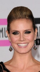 heidi klum 168x300 Heidi Klums Voluminous Updo