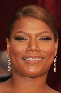 queen latifah 197x300 Queen Latifahs Sleek Bun