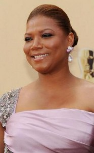 queen latifah2 186x300 Queen Latifahs Sleek Bun