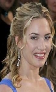 kate winslet3 184x300 Kate Winslets Half Updo