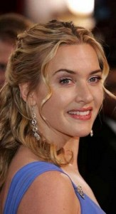 kate winslet5 163x300 Kate Winslets Half Updo