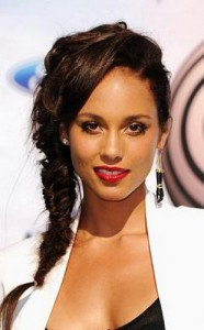 alicia keys 186x300 Alicia Keys Hairstyle With Braids
