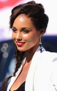 alicia keys2 187x300 Alicia Keys Hairstyle With Braids