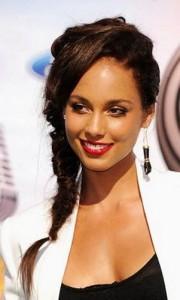 alicia keys4 180x300 Alicia Keys Hairstyle With Braids