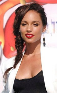 alicia keys6 183x300 Alicia Keys Hairstyle With Braids