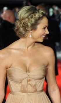 Astounding Stacy Keibler39S Blonde Updo Last Hair Models Hair Styles Hairstyle Inspiration Daily Dogsangcom