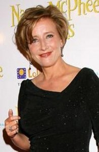 emma thompson2 196x300 Emma Thompsons Short Hairstyle
