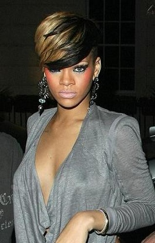 Rihanna1 Bobs With Short Undercut Red Haircuts 2012 Rihanna