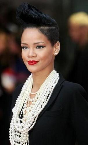 Rihanna Red Hair Long Mohawk Bun Haircut Hairstyle Hairstyles Rihannamohawk