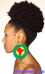 afro puff2 182x300 Afro Puff Hairstyle