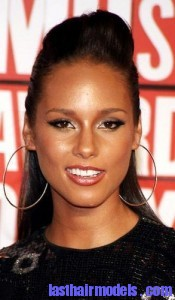 alicia keys1 175x300 Hairstyle With Punk Braid