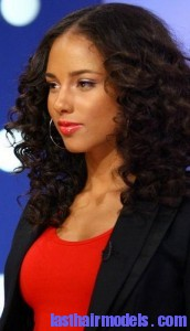 alicia keys2 172x300 Hairstyle With Water Waves
