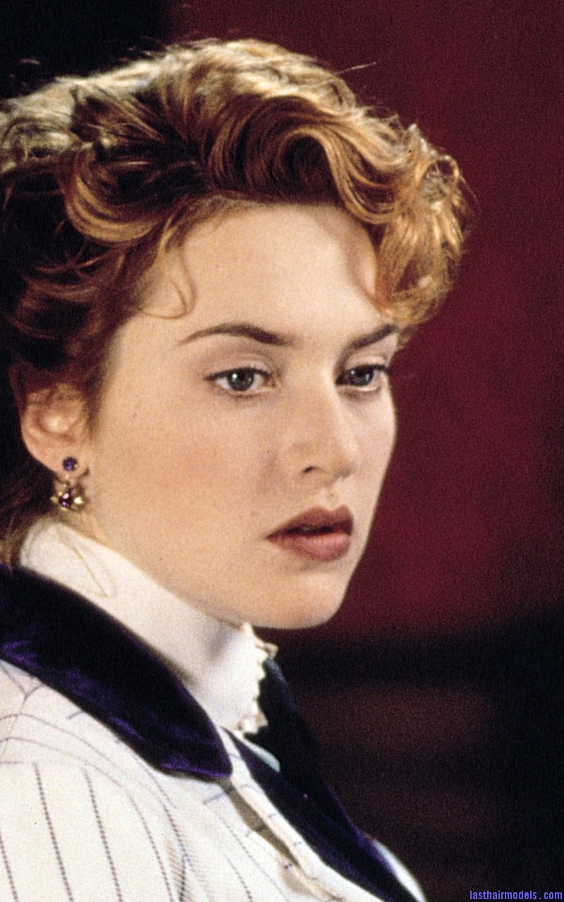 0330 Kate Winslet Titanic Kate Winslets Titanic hair style: Red haired curly updo