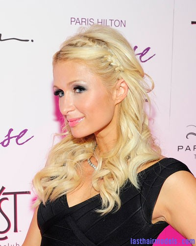 0818 paris hilton braid 2 bd1 Paris Hiltons side braid: look cute and chic together!