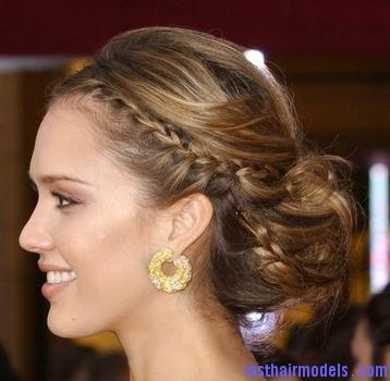 Braids01 Jessica Alba's two braids in style: The messy outlook for the perfect party!