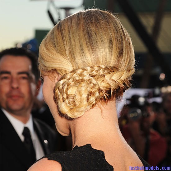 Charlize Theron Charlize Theron's braid bun: The newer classy style!
