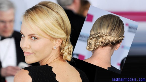Hairstyle Of The Week Charlize Theron 0112 9 Charlize Theron's braid bun: The newer classy style!