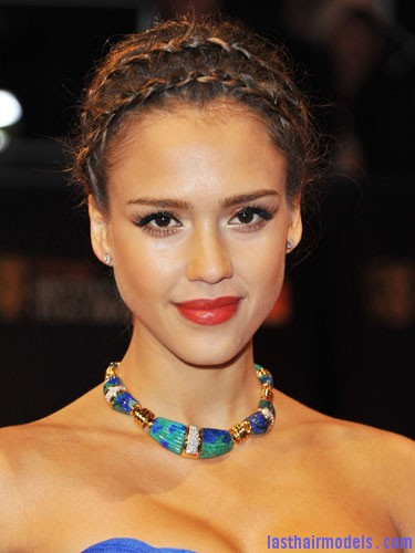 Jessica Alba celebrity plai Jessica Alba's double crown braid: Heidi braids at their best!!