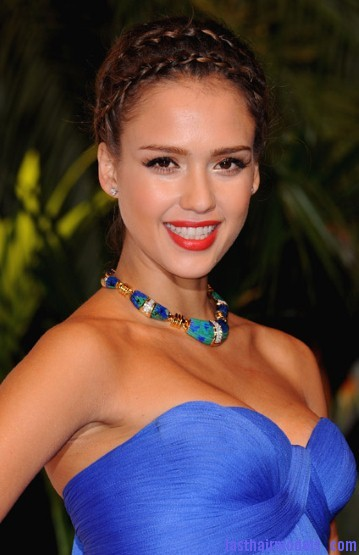 Jessica alba 1911206a Jessica Alba's double crown braid: Heidi braids at their best!!