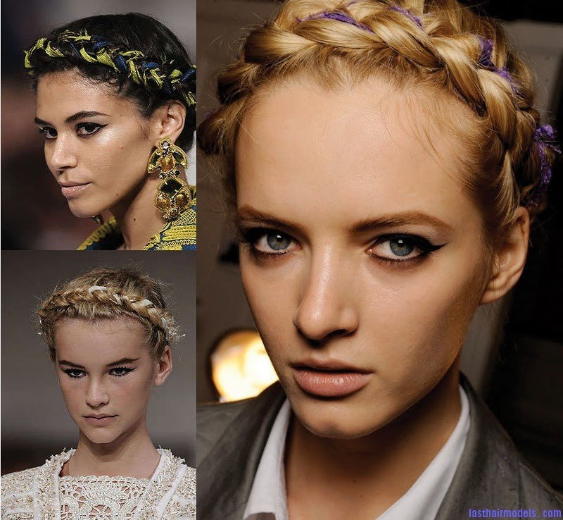 Oscar De La Renta S2010 mil The 'Heidi' braid: The crown braid hairstyle