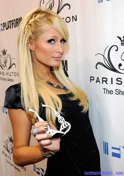 Paris+Hilton+Unveils+Spring+2011+Shoe+Collection+Gy TEDDtoefl Paris Hiltons side braid: look cute and chic together!