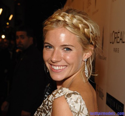 Sienna Miller Braided Updo The 'Heidi' braid: The crown braid hairstyle