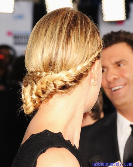 Step 3 Charlize Theron's braid bun: The newer classy style!