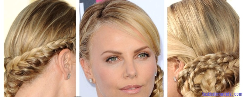 Top of the Chops charlize theron Charlize Theron's braid bun: The newer classy style!
