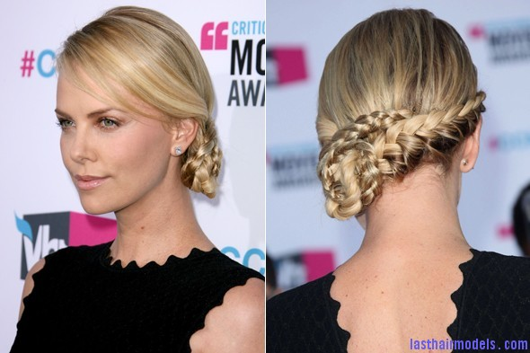 charlize theron 590 Charlize Theron's braid bun: The newer classy style!