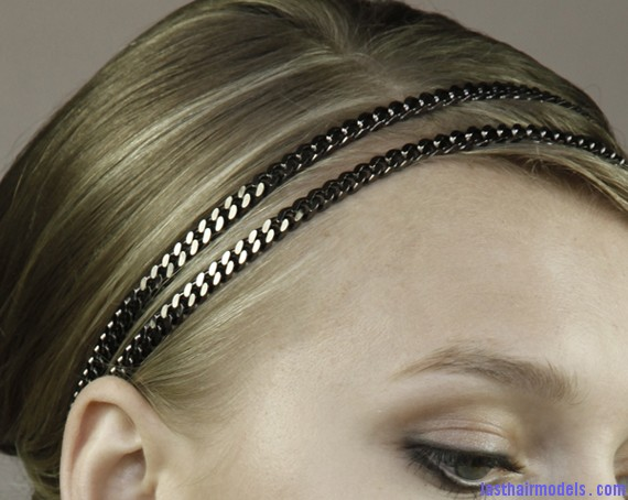 double chain headwrap Hair chains!!: A new thing to experiment with!