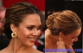 images 1 Jessica Alba's two braids in style: The messy outlook for the perfect party!