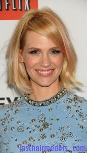january jones 172x300 Adding Streaks On Bangs