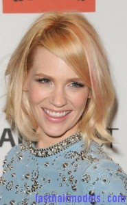 january jones2 185x300 Adding Streaks On Bangs
