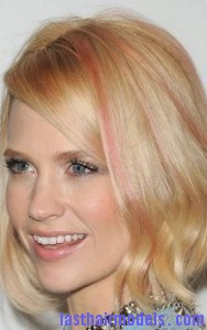 january jones4 188x300 Adding Streaks On Bangs