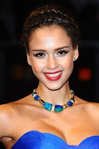 jessica alba sized Jessica Alba's double crown braid: Heidi braids at their best!!