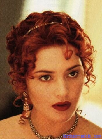 kate winslet 20050603 44243 Kate Winslets Titanic hair style: Red haired curly updo