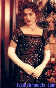kate winslet titanic dress Kate Winslets Titanic hair style: Red haired curly updo