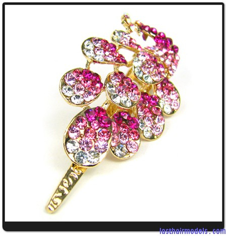 new Womens Hair Clips Pink Peacock Crystals Hair 2674761 2.bak  Using crystal hairpins: Make the best of gems!!
