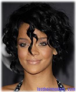 rihanna-short-curly-hairstyle   Last Hair Models , Hair Styles ...
