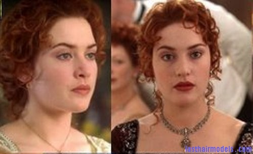 rose titanic Kate Winslets Titanic hair style: Red haired curly updo