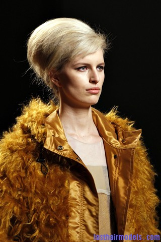 00010big 320x4807 Bottega Veneta fashion show models hairstyle: Thick high frizzy vintage buns!