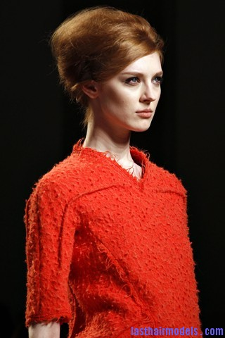 00030big 320x4804 Bottega Veneta fashion show models hairstyle: Thick high frizzy vintage buns!