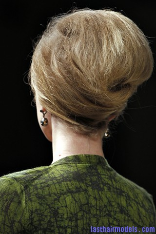 00740big 320x480 Bottega Veneta fashion show models hairstyle: Thick high frizzy vintage buns!