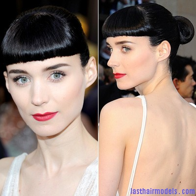 022612 Rooney Mara2 400 Rooney Maras short bun: Shine and neatness in one!!