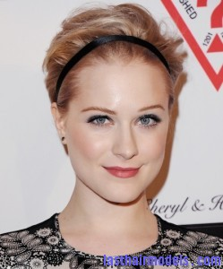 0322 evan rachel wood headband hairstyle celeb hairstyles gym hairstyles bd 249x300 Andrea Bocelli Foundations 2011 Benefit Gala