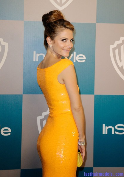 13th+Annual+Warner+Bros+InStyle+Golden+Globe+XeLjqQ6ECLQl Maria Menounos's bun in style: A halo of radiance!